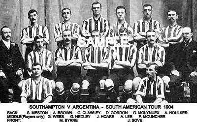 Southampton FC 1904 Tour Team Photo