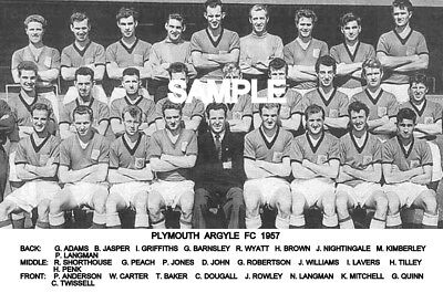 Plymouth Argyle FC 1957 Team Photo