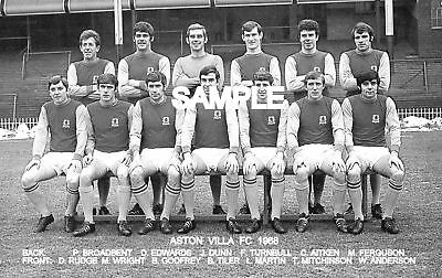 Aston Villa FC 1968 Team Photo