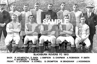 Blackburn Rovers FC 1913 Team Photo