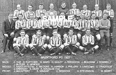 Brentford FC 1927 Team Photo