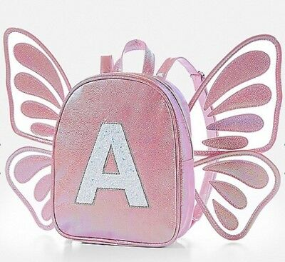 NWT Justice Butterfly Wing Initial Mini Backpack!  You Choose The Letter! 🦋🦋🦋