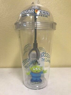 Disney Pixar Fest Toy Story Alien Little Green Men Claw Light Up Tumbler Cup NEW