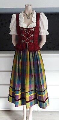 German Austrian Silk Skirt + Dirndl Bodice & Blouse 8