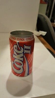 Vintage Coke II Coca Cola II Soda Pop Aluminum BLUE STRIPE 12 oz Can Empty RARE