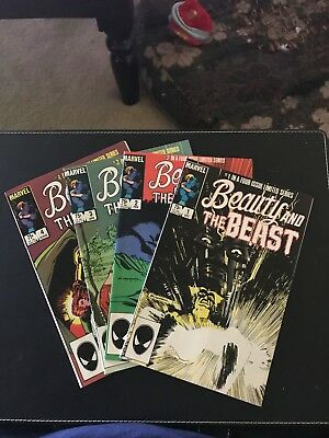 Beauty and the Beast, Limited Series 1 - 4 (1984, Marvel) VF+