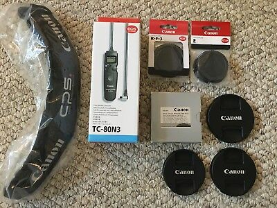 Canon TC-80N3 Timer, 72mm Circular Polarizer PL-C, Etc. - All New and Unused