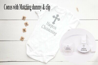 Personalised Gift, Personalised Soother Avent, Soother Clip, Christening Set