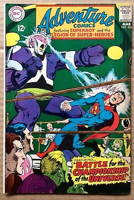 ADVENTURE COMICS #366 (1968) DC Silver Age Superboy, Legion of Super-Heroes F/VF