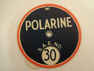 Great Vintage Standard Oil Polarine Advertising SAE No. Oil Weight Disc Guide