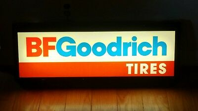 Vintage  1984 BF Goodrich Tires Hanging Lighted Advertising  Sign