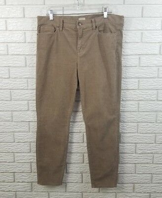 J Crew Factory Skinny Ankle Stretch Cord Pants 31 Taupe Corduroy C9715