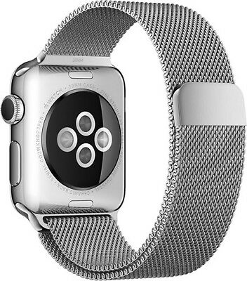 Original Apple Watch Milanese Loop band 42mm stainless steel Magnetic SILVER
