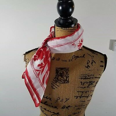 f65c06b2e10a WOMEN S SCARF ~ Red And White Ticking Stripe with Navy Blue Anchors ...