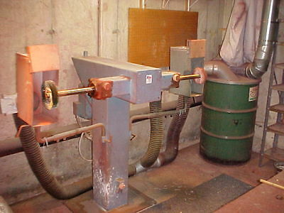 Buffing Machine with Dust Collector on Pallets