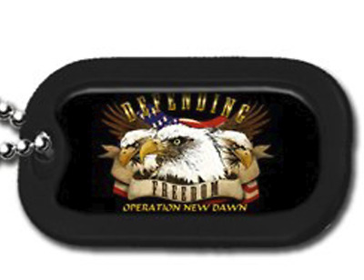 Operation New Dawn Defending Freedom Engravable Dog Tag Necklace / Keychain