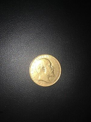 Solid gold 22kt sovereign coin 7.98 grams not scrap