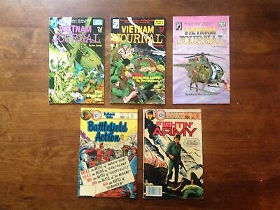 Vietnam Journal, Charlton War Comics Lot Of 5 VG
