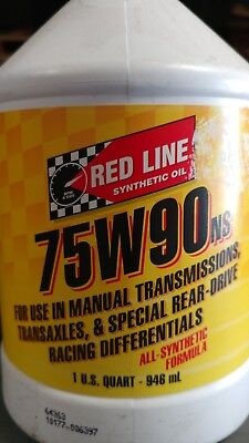 Red Line 75W90 NS GL-5 Gear Oil 58304 1 Quart bottles, 4 included