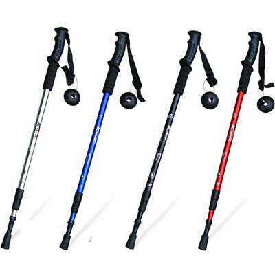 3-Section Carbon Alpenstock Telescopic Walking Pole Hiking Stick with Compass