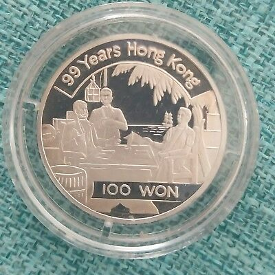 Korea 1997 100 won silver 99 years Hong Kong (China) coin