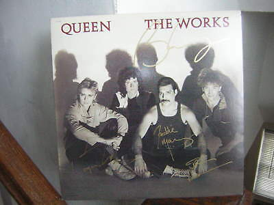 Queen Signed Lp The Works Freddie Mercury Brian May 1984