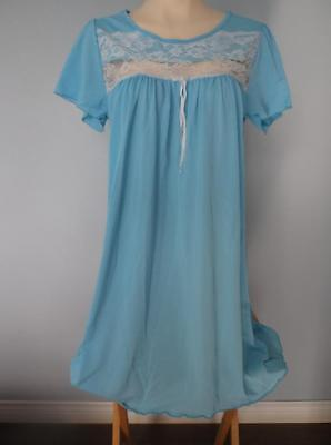 Vintage Nightgown Lace Nighty  Nylon Lacy Silky Soft  Sissy Lingerie Nos