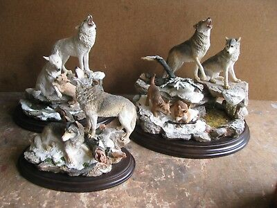 Country Artists Wolves Lot Of 3