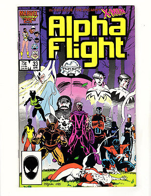 Alpha Flight #33 (1986 Marvel) VF/NM Mike Mignola 1st Cameo App Lady Deathstrike