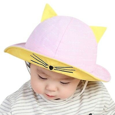 Baby Toddler Summer Sun Cap Infant Boy Girl Beach Bucket Hat Visor Cap Headwear