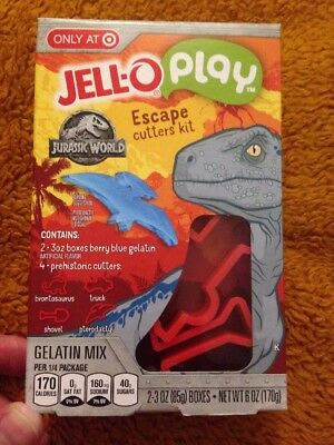 Jurassic World Target Exclusive Jello Play Escape Cutters Kit Dinosaurs Gelatin