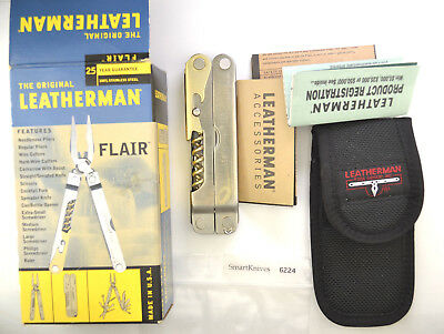 Leatherman Flair tool- New in box, nylon sheath. Retired, rare #6224