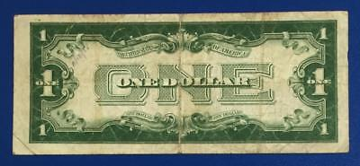 "1928B $1 Blue ""FUNNY BACK"" SILVER Certificate FINE X047 Old US Currency"