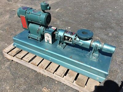 Moyno Progessive Cavity Pump Model 1L4 SSB with Reliance Electric 230/460 Motor