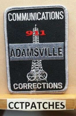 Adamsville, Alabama Communications Corrections (Police) Shoulder Patch Al