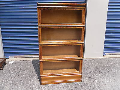Antique Macey's 4 Section Tiger Oak Barrister Bookcase