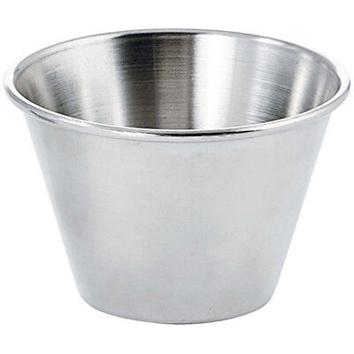 Stainless Steel Individual Condiment Sauce Cups,Prep Bowl,Dipping Cups - 6oz