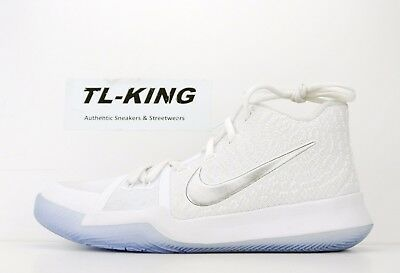 new arrival 2571b 8d2bc Nike Kyrie 3 III GS Youth Irving White Chrome Basketball 859466-103 Msrp   100 Je