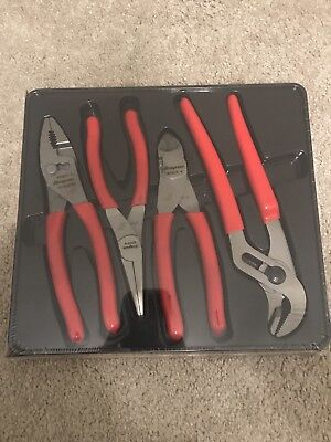 New Sealed Snap-on Pliers Set of 4 PL400B