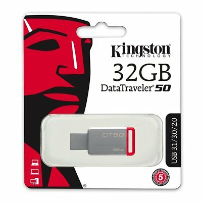 Kingston 32 Go GB DataTraveler DT50 USB 3.1 Flash stick Memoria Drive 32Go
