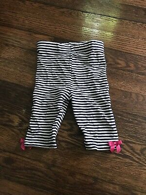 New Bonnie Baby Infant Navy Stripe Jersey Elastic Waist Pants Size 12 months