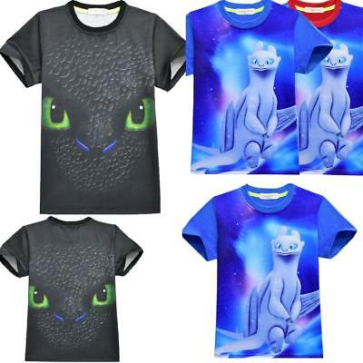 How to Train Your Dragon kids Boy girls T-Shirts Tops tshirts T shirts costume A
