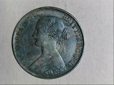1866 United Kingdom Queen Victoria One Half Penny