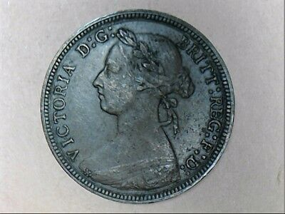 1886 United Kingdom Queen Victoria Half Penny