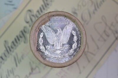 "$20 BU Morgan Silver Dollar Roll ""CC"" & ""1883"" ends"