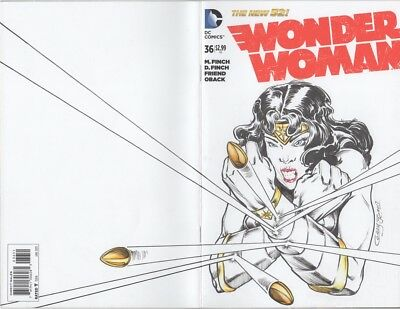 Wonder Woman #36 Variant Sketch Cover / Original Art by Willie Cordy