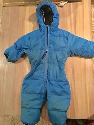 Molehill Mt. Baby Toddler Snow Suit Zip Bunting Down Insulated Size 1 (9 - 18 m)