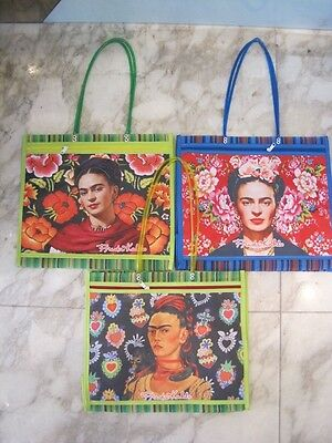 Frida Kahlo printed TOTE BAG with long handles & ZIP POCKET
