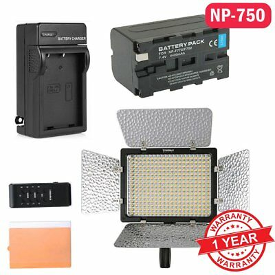 Yongnuo YN 300 III Pro 3200-5500K LED Video Light For Studio DSLR 750 Battery US