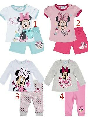Baby Girls Disney Minnie Mouse Outfit Tshirt Leggings Shorts Set Age 3-24 months